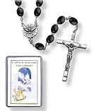 Confirmation Black Wooden Rosary
