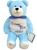 Bless This Child Blue Holy Bear