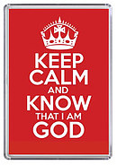Keep Calm and Know God Red Magnet