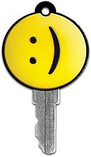 Yellow Smiley Key Cover