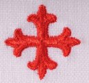 Chalice Pall Red Cross Design 100% Pre-Shrunk Linen