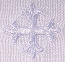 White Cross Design Pre-Shrunken 100% Linen Lavabo Towel