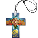 Light The Night Glow In The Dark Necklace with Paper Cross Slide - Pack of 12