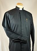 "Men's Black Clerical Shirt 14"""
