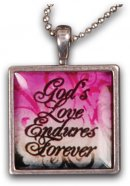 Love Endures Resin Necklace