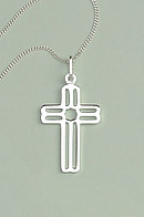 Fancy Cross Pendant: Silver