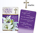 Christ is Risen Pin and Card
