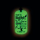 Glow in the Dark Dog Tag