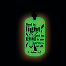 Glow in the Dark Dog Tag