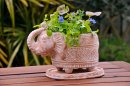 Clay Elephant Planter