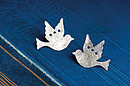 Brushed Dove of Peace Earrings