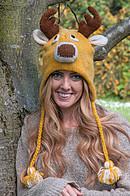 Reindeer Woollen Hat