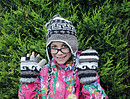 Aztec Design Childrens Woollen Gloves