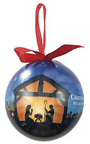 Christmas Begins with Christ Bauble