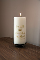 Be Still and Know .... (Ivory/Gold) Candle