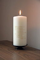 Numbers Blessings Ivory/Gold Candle