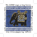 4 Elephant Coasters with Bible Verses