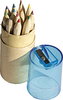 12 Short Colouring Pencils and Sharpener