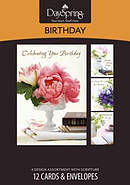 Boxed Card Birthday Lustrous