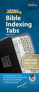 Bible Index Tab Gold Large