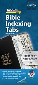 Bible Index Tab Silver Large