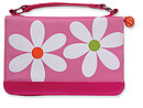 Microfiber Daisy Bible Cover: Pink, Medium