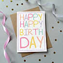 Happy Happy Birthday Single Card