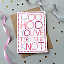 Woo Hoo You've Tied the Knot Single Card