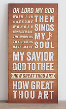 How Great Thou Art Wall Hanging