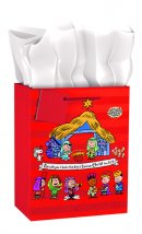 Medium Gift Bag Peanuts Nativity