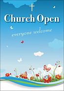 Church Open A2 Poster