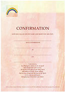 Confirmation Certificate Peach / Cream - Pack of 10