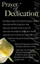 Prayer of Dedication: Prayer Card, Pack of 20
