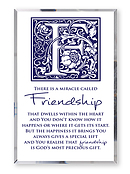 Friendship Glass Plaque
