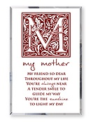 Mother Glass Plaque