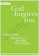 God forgives sins Poster