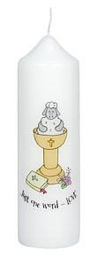 Just One Word Love Baptism Candle Single
