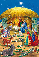 Nativity Scene Advent Calendar Card