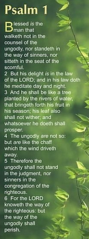 Bible Passage Bookmarks: Blessed is the man - Psalm 1