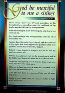 Scripture Passage Poster: God be merciful to me a sinner - Psalm 51.1-10