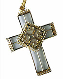 Hanging Cross Gold