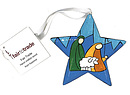 Star Decoration - Stained Glass / Shepherd Design