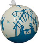 Silhouette Nativity Christmas Bauble