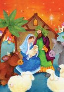 Nativity Scene A4 Advent Calendar