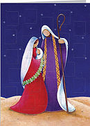 Jesus, Jospeh, and Mary Advent Calendar Card