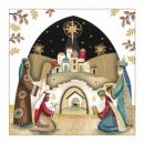Tearfund Christmas Cards - Gold Foil Bethlehem Pack of 10