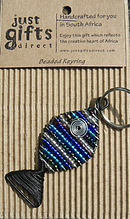 Beaded Fish Keyring