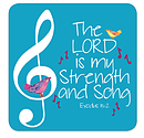 The Lord is My Strength Coaster