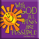 With God All Things Magnet