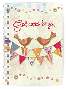 God Cares A5 Notebook